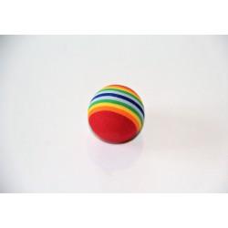 La balle multicolore